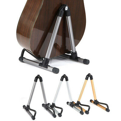 Folding Electric Acoustic Bass Guitar Stand a Frame Floor Rack Hanger Holder New