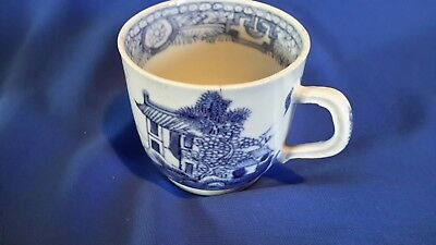 C.1790 - 1810 Antique blue and white chinese hand painted Porcelain coffee cup