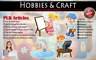 1000+ PLR Articles on Hobbies and Crafts Niche Private Label Rights