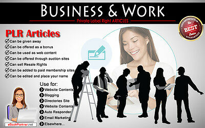 2000+ PLR Articles on Business and Work Niche Private Label Rights