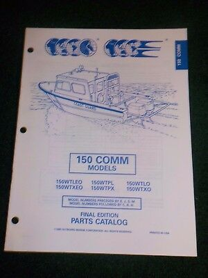 1995 Johnson Evinrude Parts Catalog Manual 150 HP Commercial Final Edition