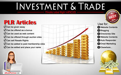 900+ PLR Articles on Investment and Trade Niche Private Label Rights