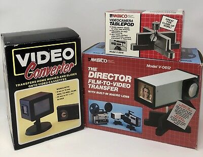Vintage Ambico Film To Video Transfer Videocamera Tablepod, And Video Converter