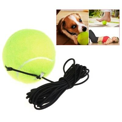 Rebound Green Resilience Tennis Balls Trainer Exercise Elastic Band Rubber Cord