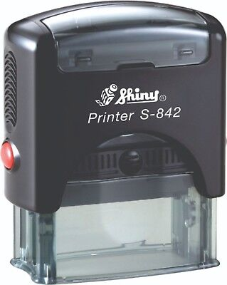 Personlised Self Inking Stamp Shiny S-842 36mm x 12mm 1-3 lines of text