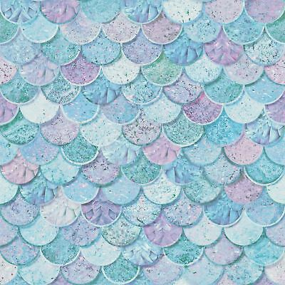 Mermazing Mermaid Scales Glitter Wallpaper - Arthouse 698305 Ice Blue Sparkle