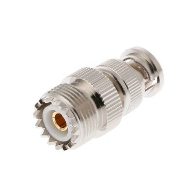BNC Male Plug To UHF SO239 PL-259 Female Jack RF Coaxial Adapter Cable Connector