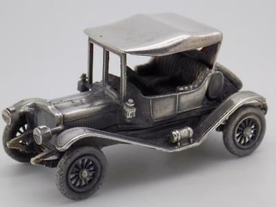 Vintage Solid Silver Italian Made by Raspini Car Miniature, Figurine, Stamped