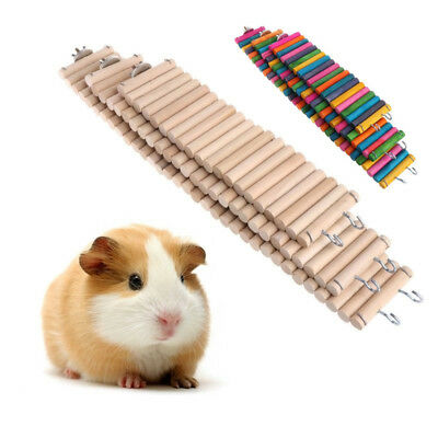 Pet Wooden Bridge Ladder Hamster Rat Mouse Mice Climbing Exercise Play Toy Tool