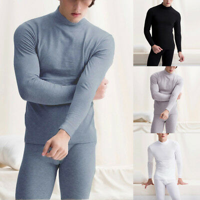 2pcs/Set Men's Warm Thermal Thicken Long Johns Tops Bottom+Pants Underwear