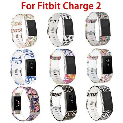Soft Slim Silicon Replacement Spare Watch Band Strap for Fitbit Charge 2