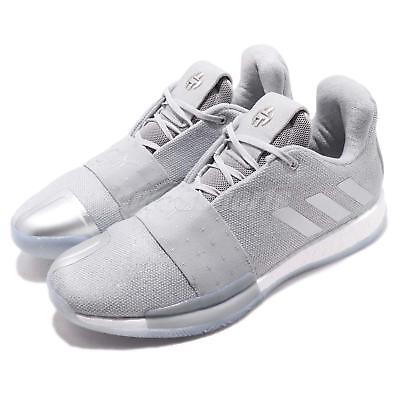 378d0f29ed01 adidas Harden Vol. 3 Boost James Grey White Men Basketball Shoes Sneakers  F36443