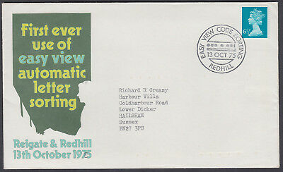 1975 Easy View Automatic Letter Sorting; Redhill Easy View Code Sorting SHS