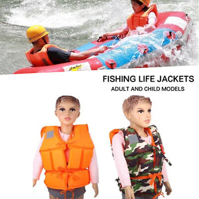 9EF2 Outdoor Sport Life Jackets Oxford Cloth Clothing Fishing Costume Durable