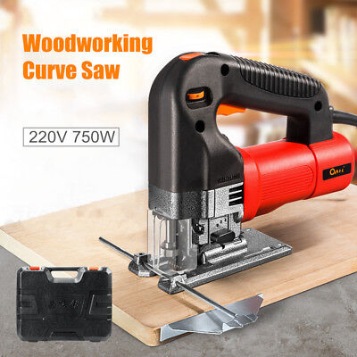 750W Electric Jig Saw Variable Speed Woodworking Curve Saws + Cutting Blade