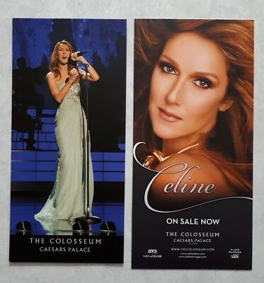 Celine Dion Las Vegas Caesars Palace concert flyer lot of 2 from 2013-14 & 2016