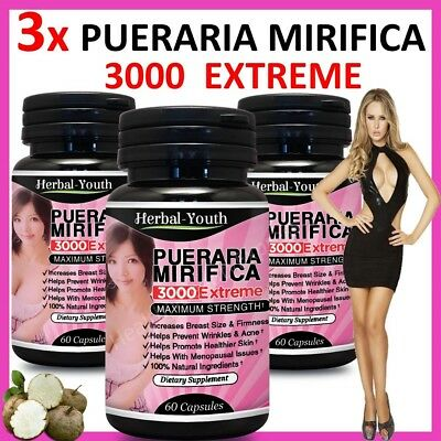 180 x PUERARIA MIRIFICA NATURALE ORMONE BREAST ENLARGEMENT MAMMELLA ALLARGAMENTO