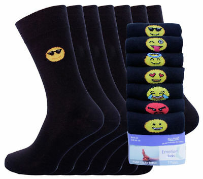 Mens Novelty Socks 7Prs Pack EMOTION HIGH-QUALITY  Father Day Gift Idea Lot
