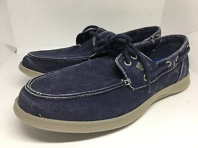 Size 10 5 Sperry Top Sider Defender Boat Shoe Mens Navy Blue New