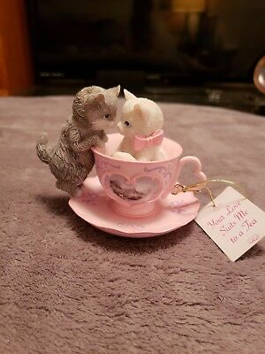 Thomas Kinkade Tea-rific Kitties Collection #0878 Teacup Kittens