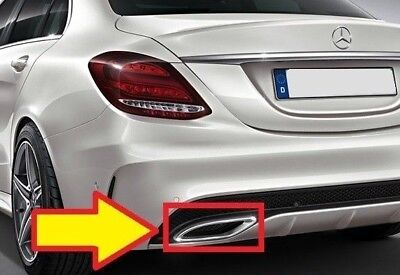 New Genuine Mercedes MB C Class W205 AMG Exhaust Tail Pipe Chrome Trim Left N/S