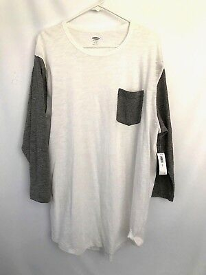 New OLD NAVY Lot of 2 Mens XL Cotton Tee Tops Long Sleeves Sport Jersey Cotton