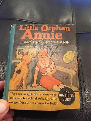 Vintage Big Little Book Little Orphan Annie and the Ghost Gang 1154