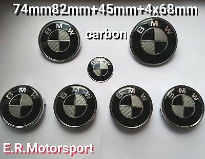 Kit Carbon 7pz 74mm+82mm+45mm+4x68mm Nero Bianco Bmw E46 E39 E36 E34 1 2 3 4 5 6