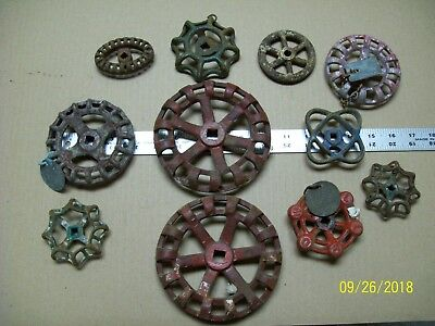 *lot Of 11* Vintage Water Valve Faucet Rustic Handle Knobs