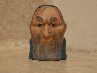 Harmer Sculpture Staffordshire Porcelain China Thimble Fagin Charles Dickens