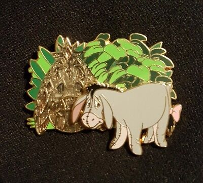 Disney Pin- Winnie The Pooh and Friends- Eeyore 2005 with Tiki Mask in Bushes