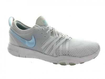 f8a898fc071f1 Women s Nike Free TR 7 Reflect Running Shoes AA2238-100 White Blue Size 8.5