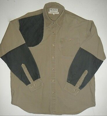 8822e01fe88 MENS LARGE COLUMBIA Briarshun Shooting Shirt Hunting Long Sleeve Tan ...