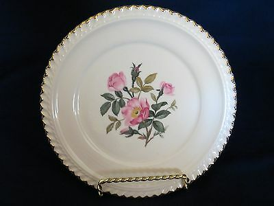 Bread and Butter Plates, WILD ROSE pattern by Harker Pottery.