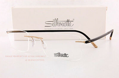 New Silhouette Eyeglass Frames FUSION 5476 6053 Satined Black/Gold 5479 SZ 55