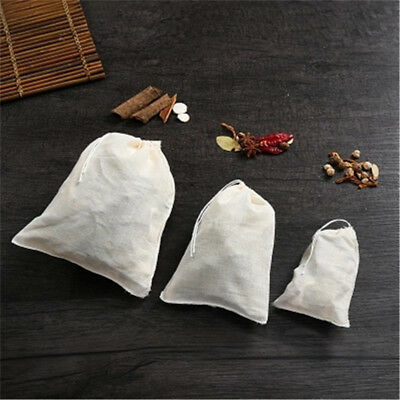 10x reusable nut milk tea coffee fruit juice cotton mesh strain filter bag GY