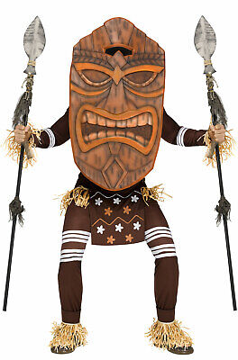 Brand New Tiki Warrior Indian Native American Tribal Party Adult Costume