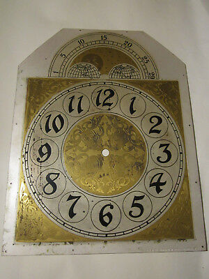 antique clock face solid brass grand fathers o gradmothers clock   parts