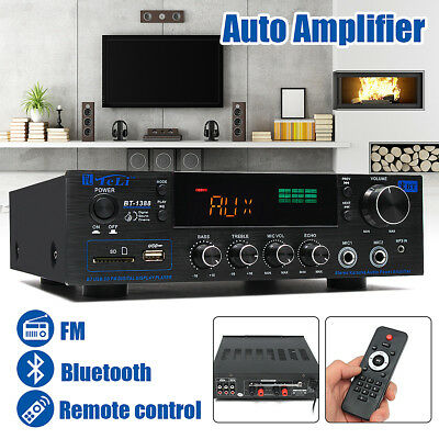 220V 400W HIFI Home Röhren Stereo Verstärker Sound Bluetooth Amplifier USB/SD