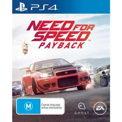 Need For Speed Payback Playstation 4 (PS4) Game Brand New Sealed In Stock