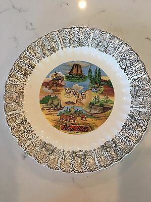 Vintage South Dakota Collectible Souvenir Plate Devils Tower, Rushmore