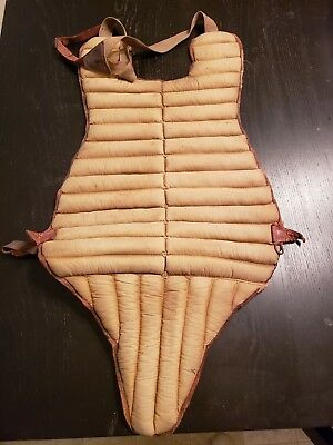 1925-1930 vintage Goldsmith Catcher's Chest Protector- Bubbles Hargrave no. 300