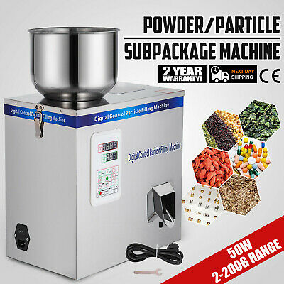 2-200g Particle Powder Subpackage Filling Filler Machine Rice Flour Weighing