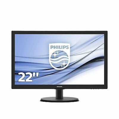 "Philips V Line 21.5"" Full HD TN LED Monitor 1920x1080 5ms HDMI VGA"