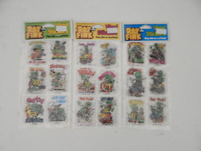 Ed Roth Rat Fink Vinyl Stickers Two Six Packs All Different 1990 R18685