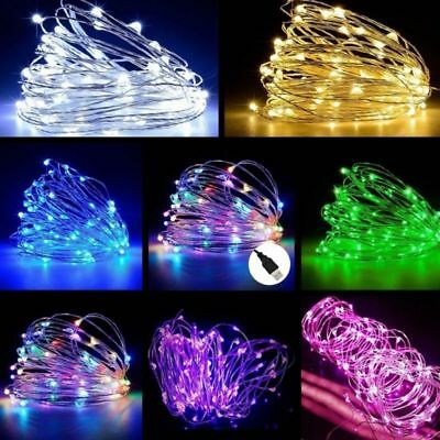 50/100 LED 5M/10M USB Micro Rice Wire Copper Fairy String Lights Party Decor