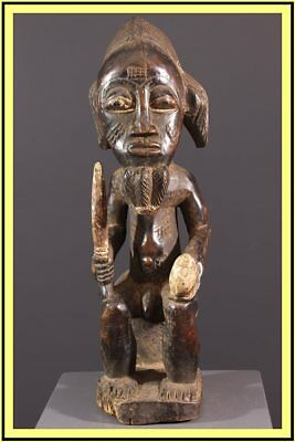 Statue Baoule  - Rci Art Africain Traditionnel Primitif Tribal **