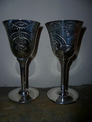 Vintage EPNS silver plated small goblets