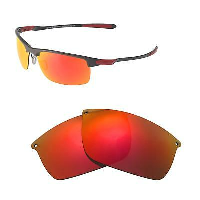 54fd54ecc26 Walleva Fire Red Polarized Replacement Lenses For Oakley Carbon Blade  Sunglasses
