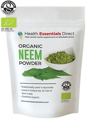 Organic Neem Powder (Healthy Hair, Anti-bacterial, Face-mask) Choose Size: